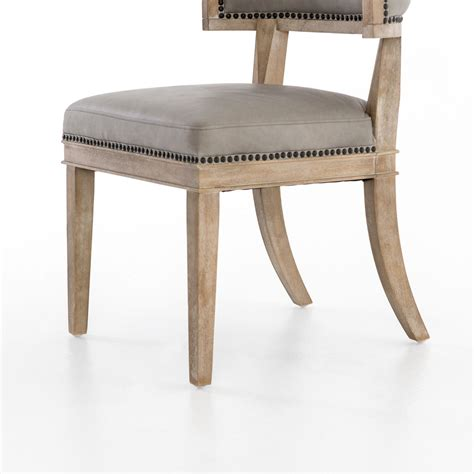 Curved Leather Dining Chair Leather And Wood Curved Dining Chair Mecox Gardens