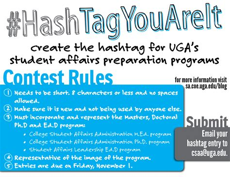Giveaway Hashtags - enter our hashtag contest college student affairs administration csaa d