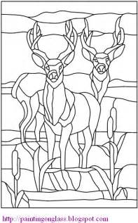 free stained glass pattern twodeer painting on glass