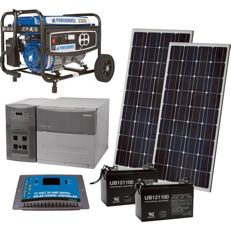 npower complete solar power package with backup generator
