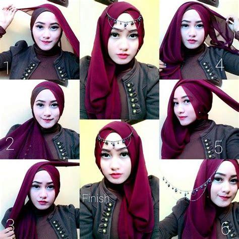 tutorial hijab pashmina gaya turban 48 tutorial hijab turban modern segi empat pashmina