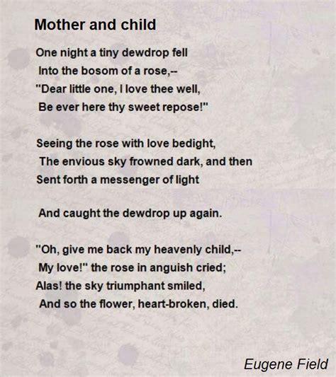 mother  child poem  eugene field poem hunter