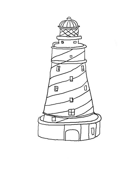 Lighthouse Printable | free coloring pages of lighthouse beach