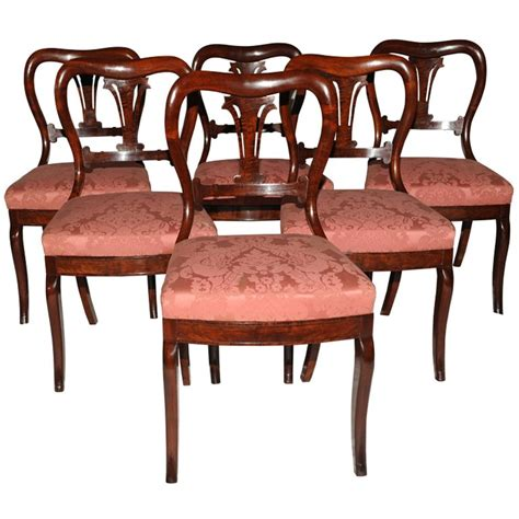 antique dining room chairs duncan phyfe antique set of 6 dining chairs at 1stdibs