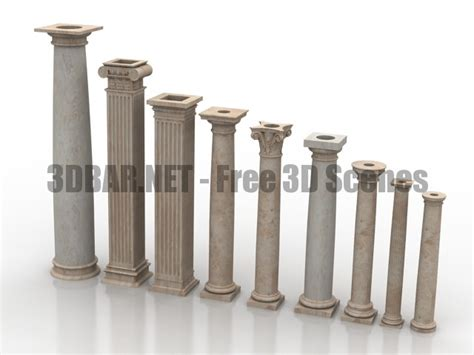 3d bar free 3d scenes 3d models amp 3d collections daily update arc column