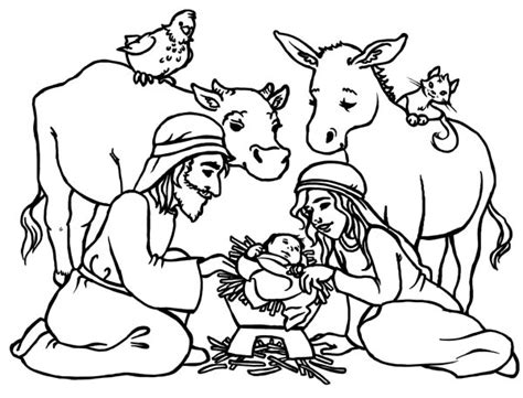 Baby Jesus In A Manger Coloring Pages jesus in manger colouring pages