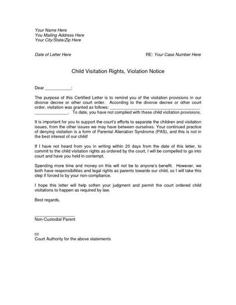 Notarized Custody Agreement Template Shatterlion Info Child Visitation Letter Template