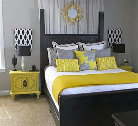 Bedroom Decorating Ideas Yellow Grey 18 Vibrant Yellow And Gray Bedroom Ideas