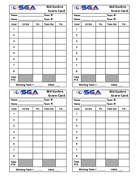 500 card score sheet template euchre score cards template 5 free templates in pdf