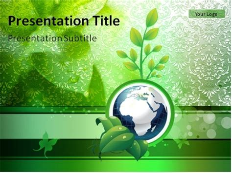 plants themes for powerpoint 2007 free download download globe on the green background with plant and