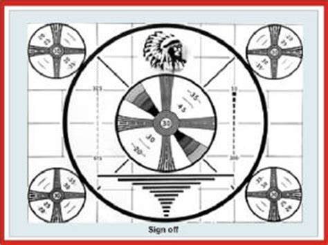 test pattern history television