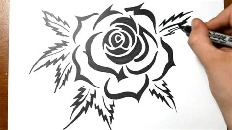 black ink rose tattoo 75 tribal ideas designs