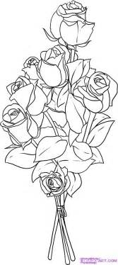 Bouquet Drawing Pictures Of Roses To Draw Step By Idea sketch template