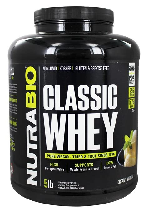 Whey Protein Concentrate buy nutrabio classic whey protein powder vanilla 5 lbs at luckyvitamin