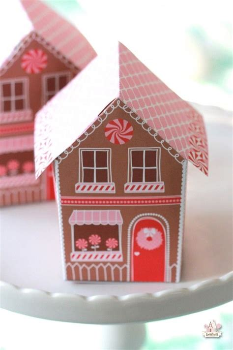 printable christmas houses 1000 images about paper dog treat gift box on pinterest