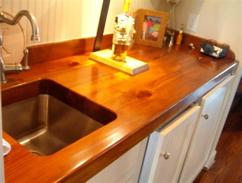 Pine Countertops by Created By River Bottom Pine Flooring Traditional