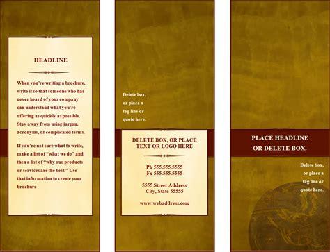 tri fold brochure template free word brochure templates doc