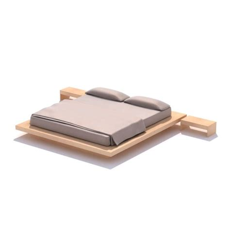 wooden bed platform wooden platform bed 3d model cgtrader com