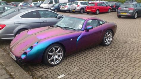 car paint that changes color tvr how this car changes color depending on how the