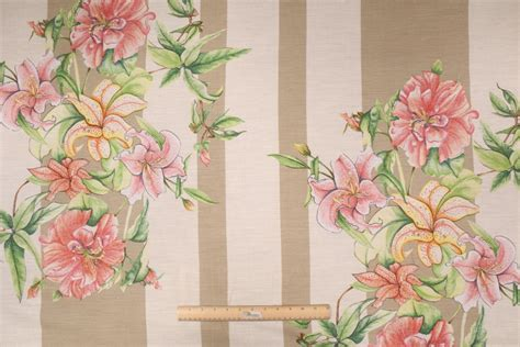 tropical drapery fabric tropical fabrics and wallcoverings by talin floral stripe