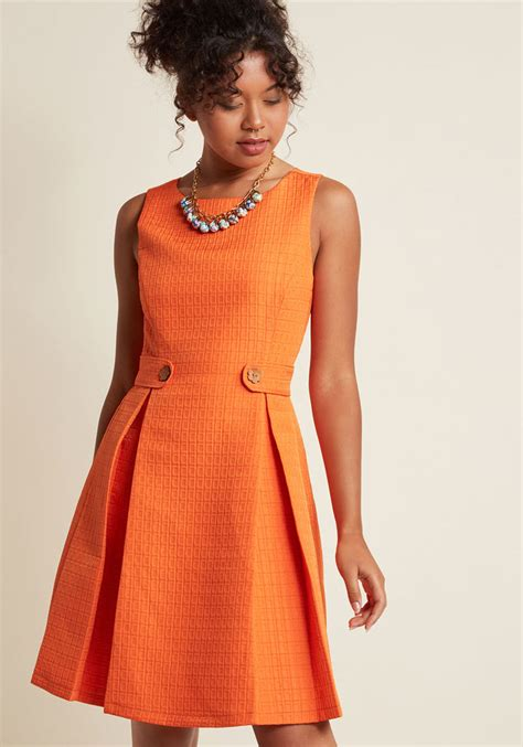 a line dress so sixties a line dress in clementine modcloth