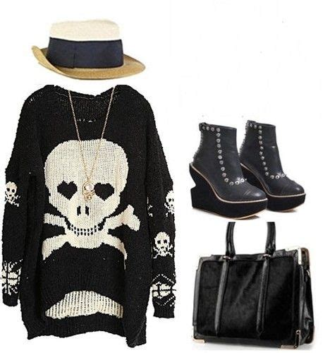 pattern for pirates cardigan details about gothic pirate skull pattern wool blend knit