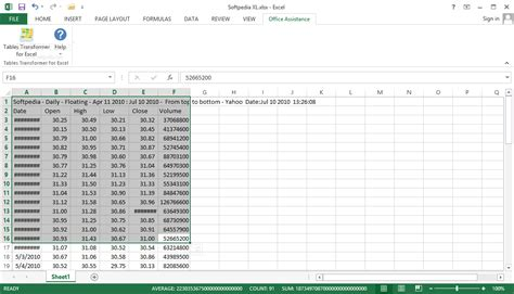 Tables Exles by Tables Transformer For Excel