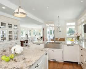 White Kitchen Countertops - white kitchen cabinets with granite countertops pictures home design