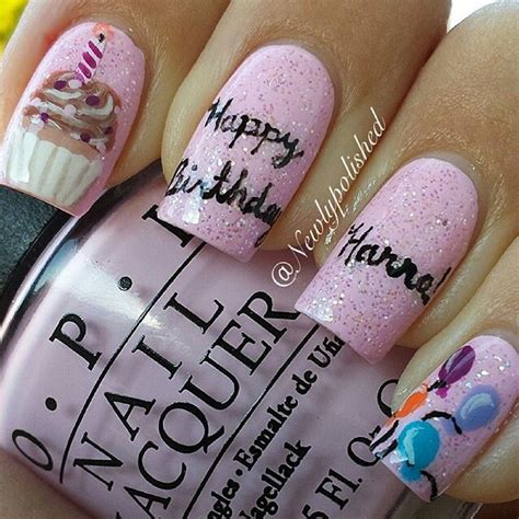 birthday nail design nail inspirations birthday nail birthdays and 17 best images about nails birthday on birthday nail birthdays and coral cupcakes