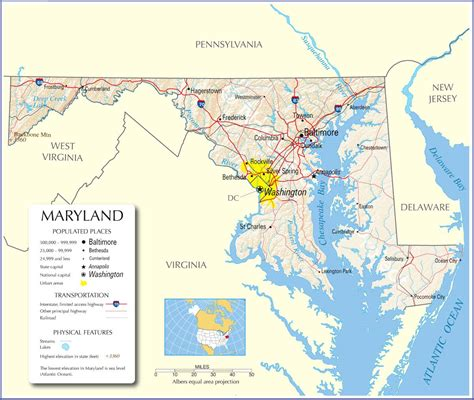 maryland driving map maryland map maryland state map maryland road map map of