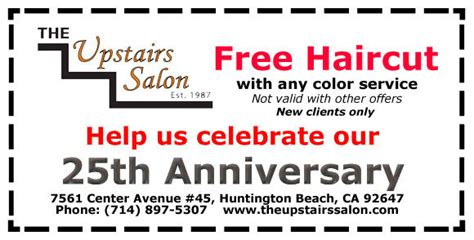 haircut coupons hair cuttery coupons specials the upstairs salon