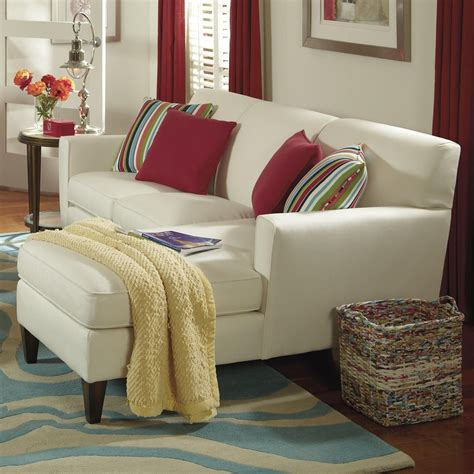 flexsteel digby contemporary sectional sofa with raf