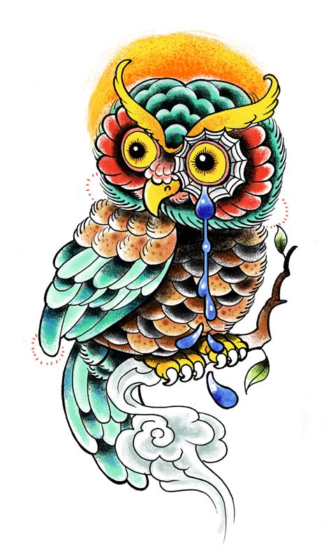 traditional owl tattoo owl designs the is a canvas