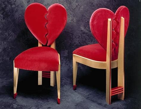 heart shaped furniture  decor ideas