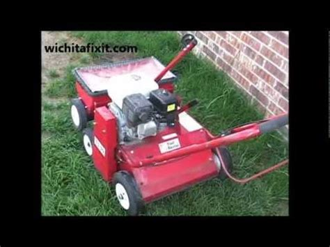 how to plant grass seed with a verticutter machine in