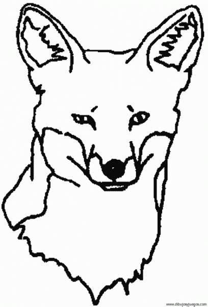 imagenes para dibujar de zorros dibujo de zorro 015 dibujos y juegos para pintar y colorear