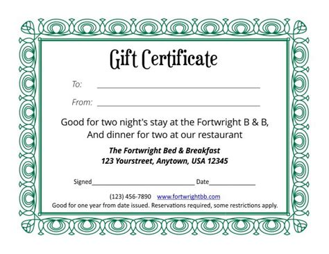 paper gift certificate template gift certificate template 4 4