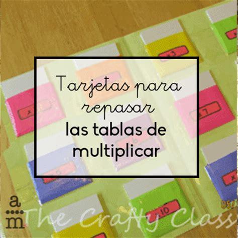 tablas de multiplicar juego para el aula tarjetas para repasar las tablas de multiplicar