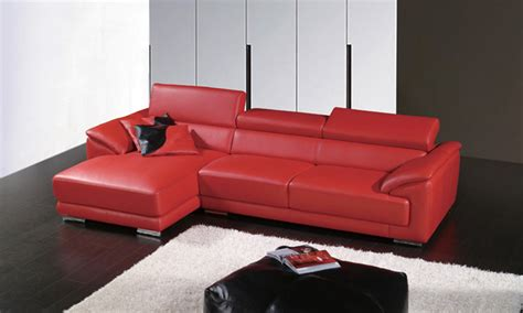 small red corner sofa door to door service 2013 modern design top grain leather