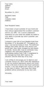 complaint letter sle class