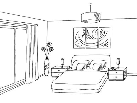 bedroom clipart black and white bedroom clipart black and white pencil and in color