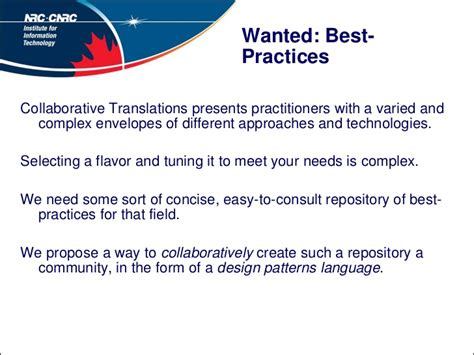 repository pattern best practices wanted best practices for collaborative translation