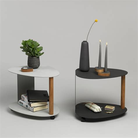 side table with l side table curve by linddna