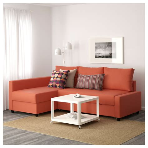 Ikea Sectional Sofa Bed Friheten Corner Sofa Bed With Storage Skiftebo Orange