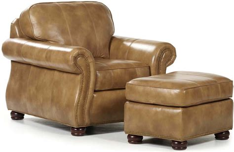 Chair Ottoman Barrington Leather Accent Chairs With Ottoman