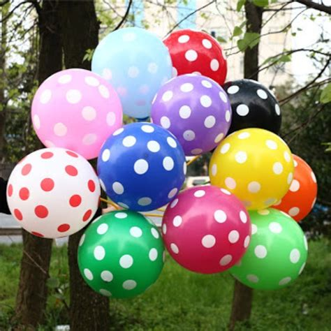 Pita Balon Murah jual balon polkadot warna warni murah jef birthday collection