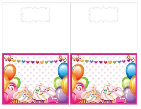 printable birthday cards quarter fold best photos of half fold birthday cards printable free