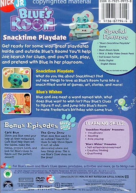 Blues Room Snacktime Playdate by Blue S Clues Blue S Room Snacktime Playdate Dvd 2004