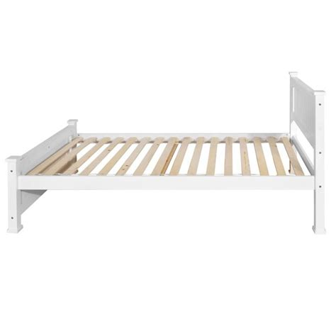 White Wood Bed Frame King King Single Size White Wooden Bed Frame Buy 30 50 Sale