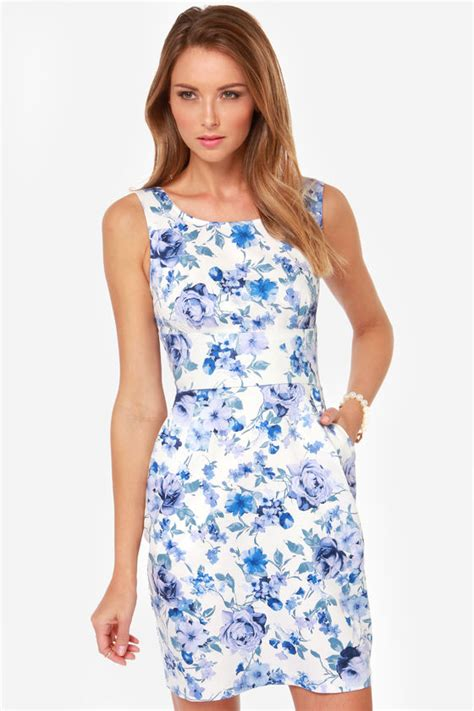 17684 blue floral overall dress pretty floral print dress blue dress 40 00